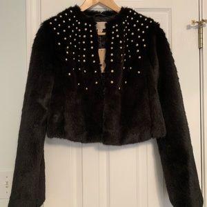 Michael Kors cropped fur jacket